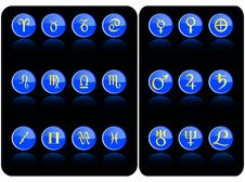 Free Blue Astronomy Icon Stock Images - 6389184