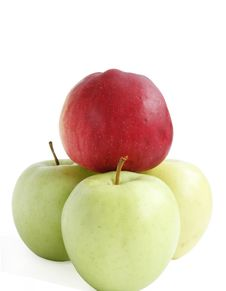 Free Red Apple Among Green Royalty Free Stock Image - 6389346