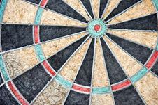 Free Radial Pattern Of Old Dartboard Stock Image - 6389711