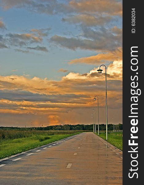 Pedestrian road