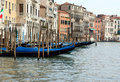 Free Gondolas On The Grand Canal Stock Image - 6399851