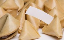 Free Fortune Cookies Blank Message Royalty Free Stock Photo - 6390315