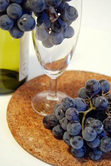 Grapes In A Glass Royalty Free Stock Photo