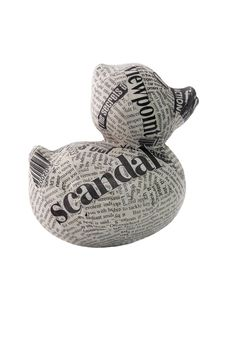 Free Newspaper Duck On White Background Stock Photo - 6391520