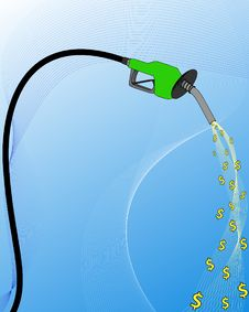 Free Gas Pump Dollar Illustration Royalty Free Stock Photography - 6391667