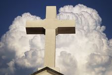 Free Cross On A Background Of The Blue Sky Stock Photo - 6391970