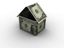 Free Dollar House In 3d Stock Photo - 6392380