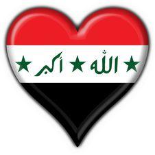 Free Iraq Button Flag Heart Shape Royalty Free Stock Photo - 6392705