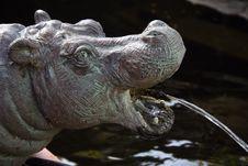Hippo Statue Stock Photo
