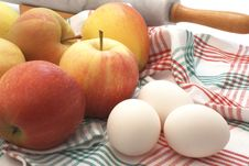Apples And Eggs Royalty Free Stock Photos