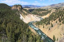 The Yellowstone River In Yellowstone NP Royalty Free Stock Photography