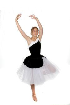 Free Ballerina With Eyes Closed In Concentration Stock Photo - 6393150