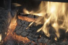 Free Fire In A Fireplace. Stock Images - 6393184