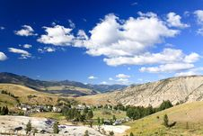 Free The Mammoth Hot Spring Area In Yellowstone Stock Images - 6393214
