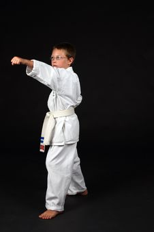 Free Traditional Karate Student Stock Photo - 6393220