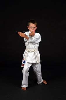 Free Traditional Karate Student Demonstrates Hand Block Royalty Free Stock Image - 6393226