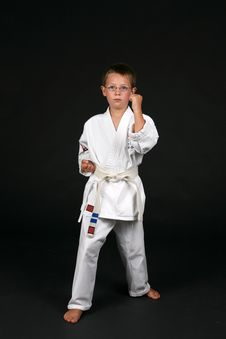 Free Traditional Karate Student Stock Image - 6393231