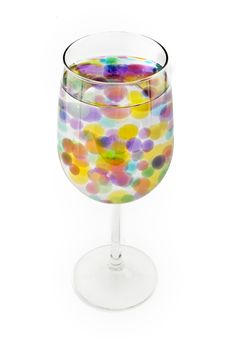 Free Colored Balls In A Wine Glass Stock Photography - 6393272