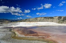 Free The Mammoth Hot Spring Area In Yellowstone Stock Photography - 6393332