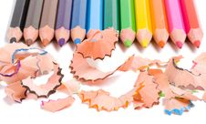 Close-up Sharpening A Pencils Stock Image
