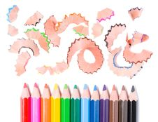 Sharpening A Pencils Stock Photography