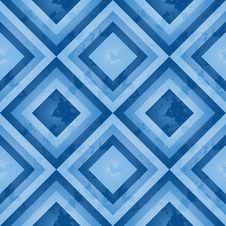Blue Retro Pattern (square) Stock Photos