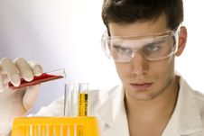 Free Young Scientist Working In His Laboratory Stock Photography - 6394422