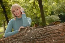 Free Attractive Blond Girl In Woods Stock Photo - 6394490