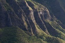 Mountain Range On Oahu, Hawaii Royalty Free Stock Photography