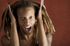 Free Shocked African American Woman Stock Images - 6395334