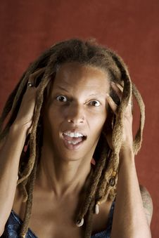 Free Shocked African American Woman Stock Photos - 6395403