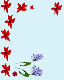 Free Purple And Red Flowers Stock Photos - 6396463