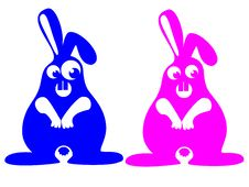 Free Crazy Rabbits Royalty Free Stock Photos - 6396588