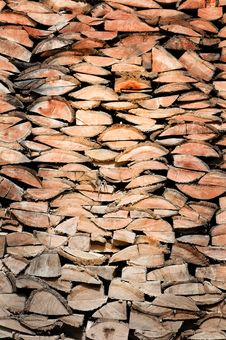 Wood Logs Texture Royalty Free Stock Image