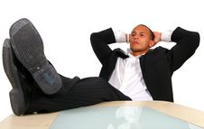 Free Young Relaxed Businessman Royalty Free Stock Photography - 6397407