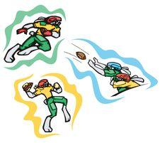 Bunny Sport Illustrations Royalty Free Stock Image