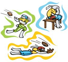 Bunny Sport Illustrations Stock Photo