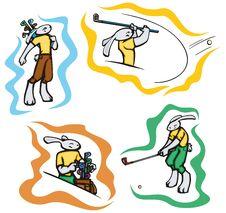 Bunny Sport Illustrations Royalty Free Stock Photo