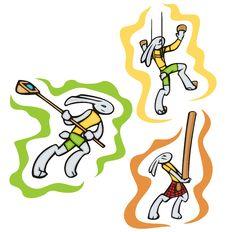 Bunny Sport Illustrations Royalty Free Stock Photos
