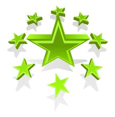 Free Vector Illustration Of Green Stars Stock Images - 6397544