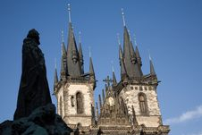 Free Jan Hus And Teyn Cathedral Royalty Free Stock Images - 6397579