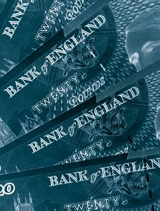 Twenty Pound Notes Stock Photography