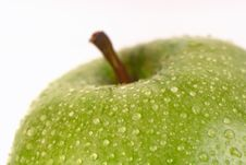 Free Green Apple On A White Background Stock Photo - 6398020
