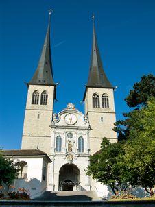 Free Hofkirche Lucerne, Switzerland Stock Photography - 6398582