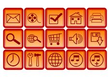 Free Web Icons And Buttons Royalty Free Stock Photography - 6399227