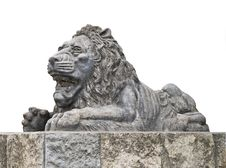 Free Stone Lion Royalty Free Stock Photo - 6399855