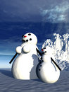 Free Snowman  23 Royalty Free Stock Photography - 645717