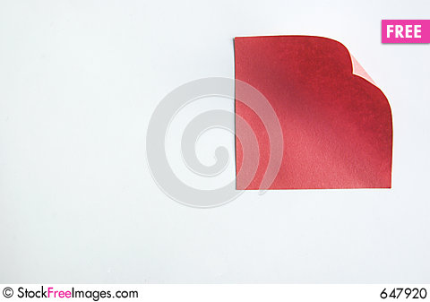 Free Red Note Stock Photo - 647920