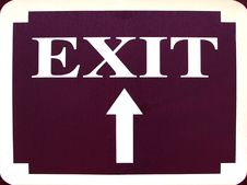 Free Exit Sign With Up Arrow Royalty Free Stock Image - 640026