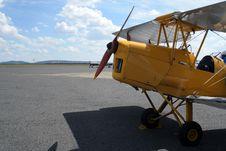 Free Yellow Bi-plane Royalty Free Stock Photo - 640125